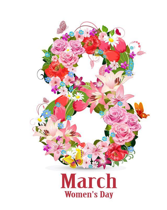 Сделать любые, цветные картинки на 8 марта распечатать