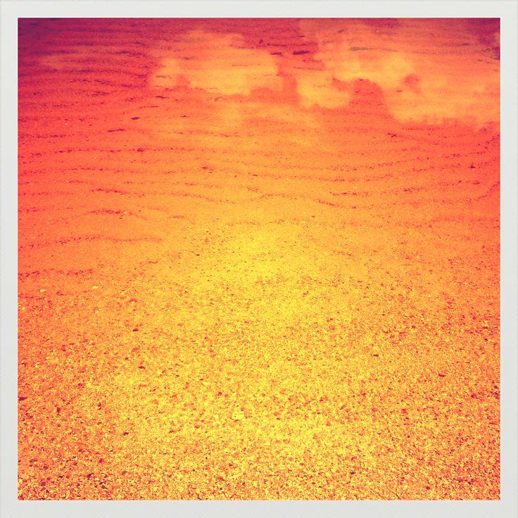 Sand, orange sand.