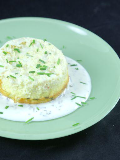Flan au crabe sauce ciboulette : Recette de Flan au crabe sauce ciboulette - Marmiton