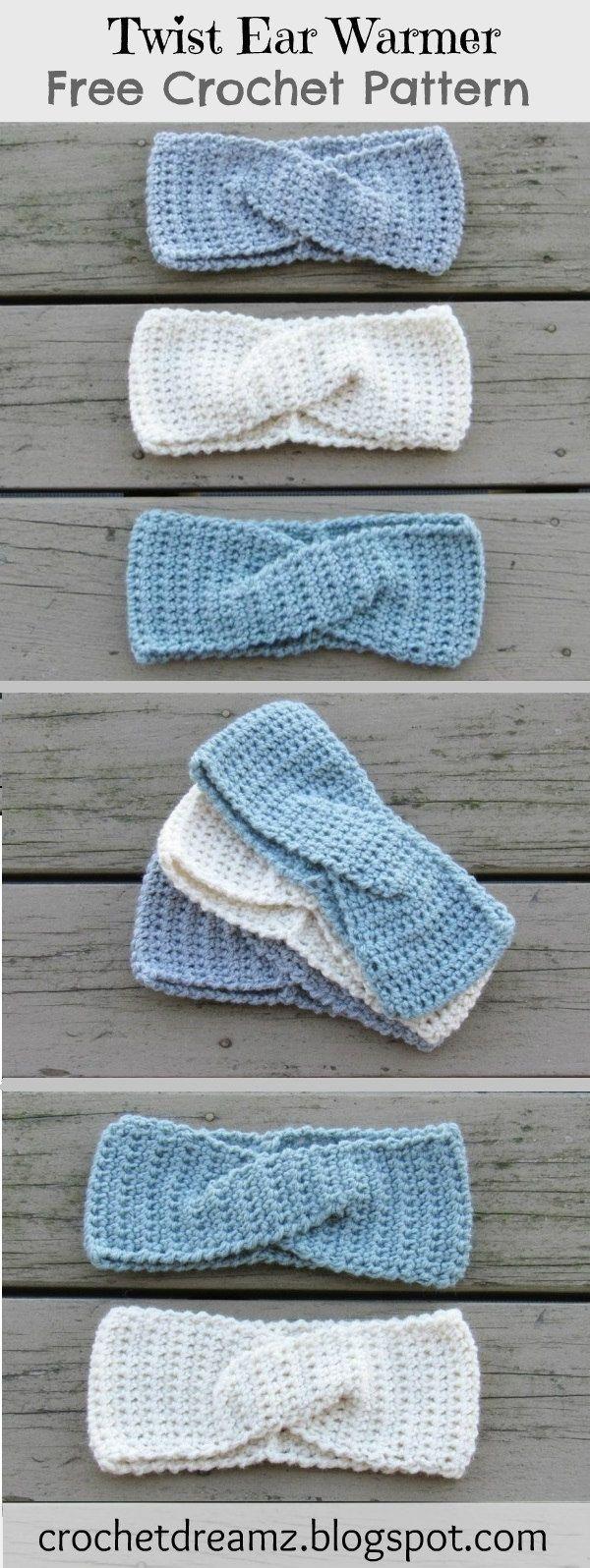 How to Crochet a Quick Twist Headband or Ear warmer, A Free Crochet Pattern