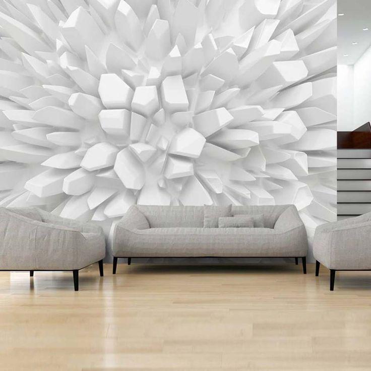 Le thème abstrait mis à l'honneur dans ce papier peint 3D pour l'intérieur de la maison