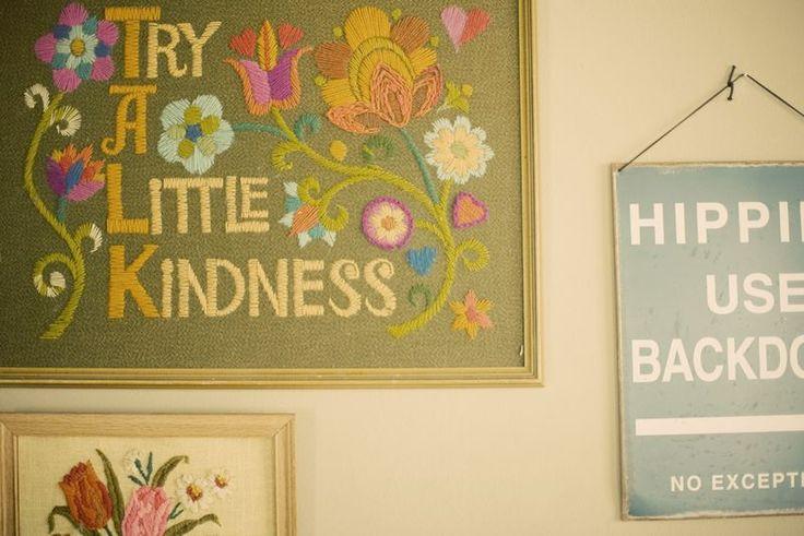 /needle work: Wall Hanging, Design Ideas, Vintage Wardrobe, Be Kind, Wedding Blog, Inspiration Photographers, Bleubird Vintage, Bleubird Blog, Hippie Curtains