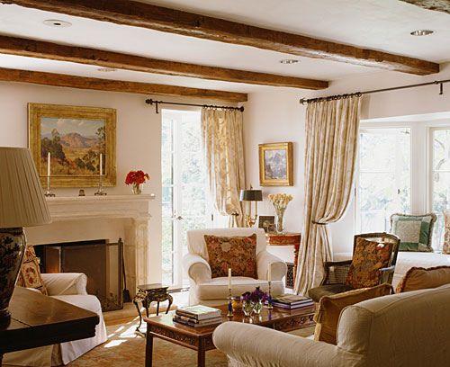 Kathryn Ireland Beams Living Room