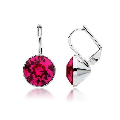 Bella Fuchsia Crystal Drop Earrings with Swarovski® Crystals
