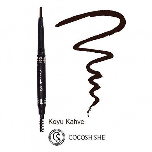 Cocosh She Asansörlü Ve Fırçalı Prof. Kaş Kalemi Dark Coffee 05