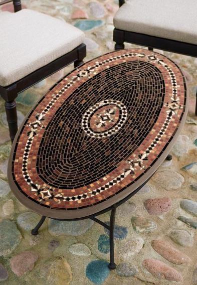 KNF Design- Mahogany Atlas Mosaic Glass Coffee Table