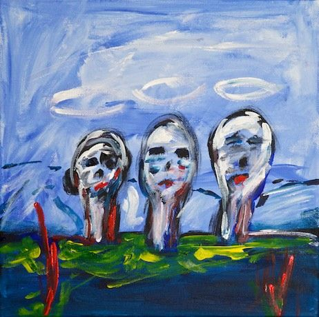 And now these three remain... - A painting by Paul Breddels