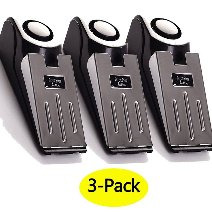 3-Pack Upgraded Door Stop Alarm -Great for Traveling High Quality Security Door Stopper doorstop Safety Tools for Home Set of 3