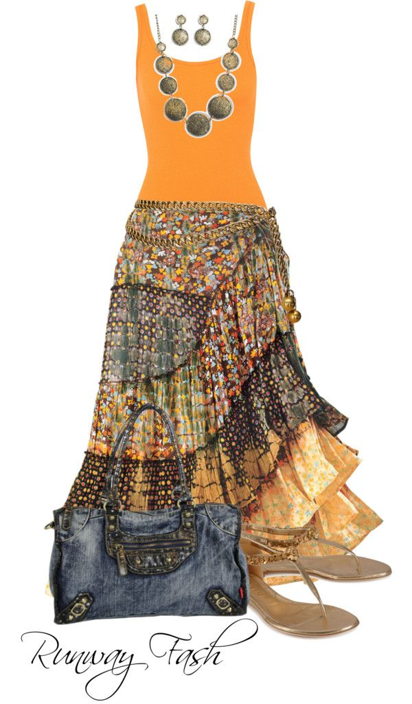"""Gypsy Fashion"" by lunagitana on Polyvore  [This is actually very close to what I'm thinking of making for Angela]"