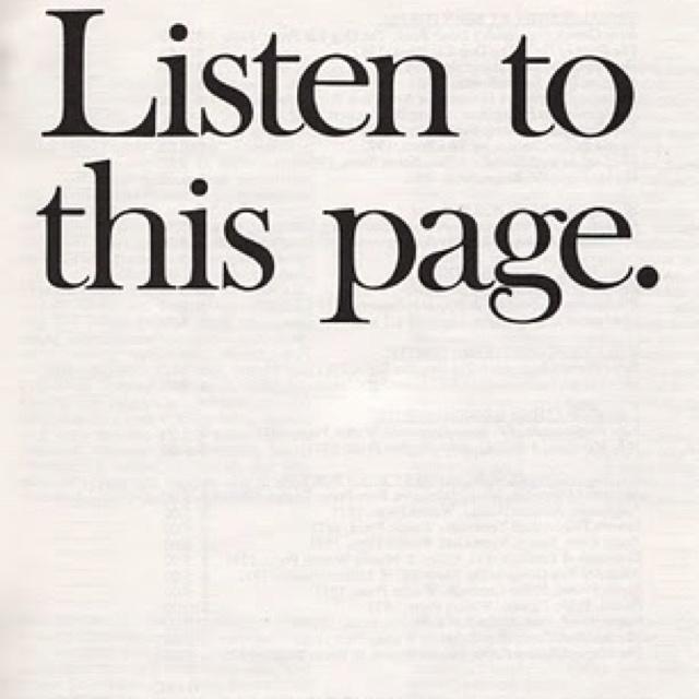 Listen: Bern Porter, Inspiration, Quote, Art, Book, Posts, Typography