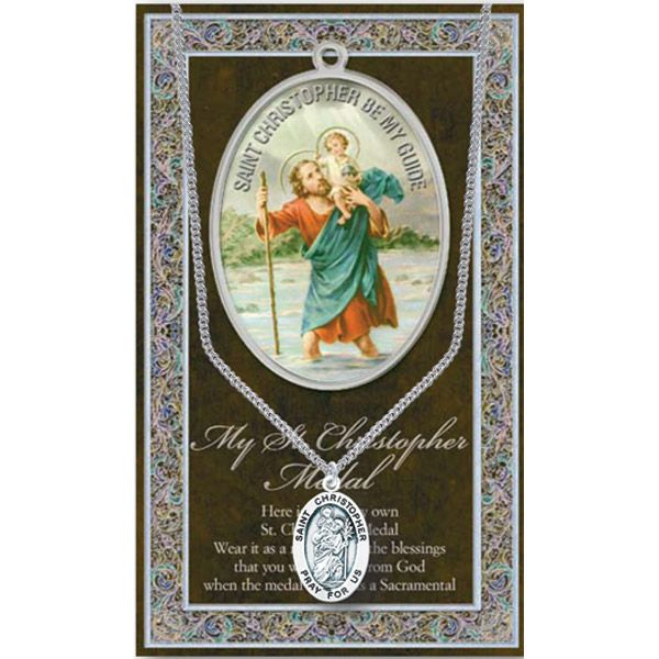 Patron of safe travel and sports, St. Christopher, pray for us! Many saints available!
