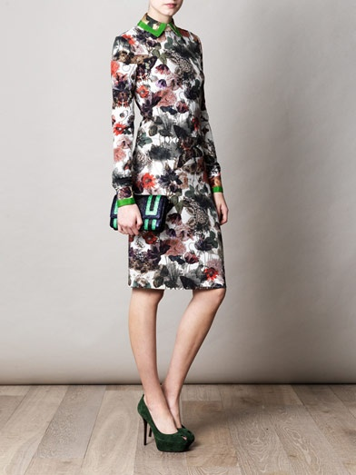 Preen Kara moth-print jersey dress: Dresses 130578, Preen Dresses, Jersey Dresses, Preen Kara, Products