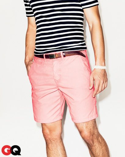 Chalky Chinos. Bright hues that are washed-out and faded. Low-key, but colorful. American Eagle Outfitters, $40
