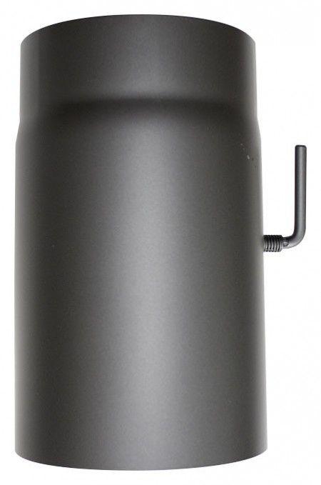 Rauchrohr mit Drosselklappe für Kaminofen Ø 150 - 250 mm langes Rauchrohr aus Stahlblech zum Anschluss an einen Kaminofen mit dem Anschlussdurchmesser 150 mm (gilt für alle Modelle von Oranier und Justus). Perfekt geeignet für die Kaminöfen von ORANIER und JUSTUS!