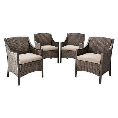 Threshold™ Casetta 4 Piece Wicker Patio Dining Chair Set. Deal Price:  $366.74