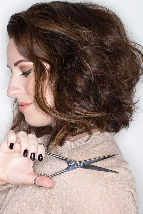 15 New Short Haircut for Thick Wavy Hair