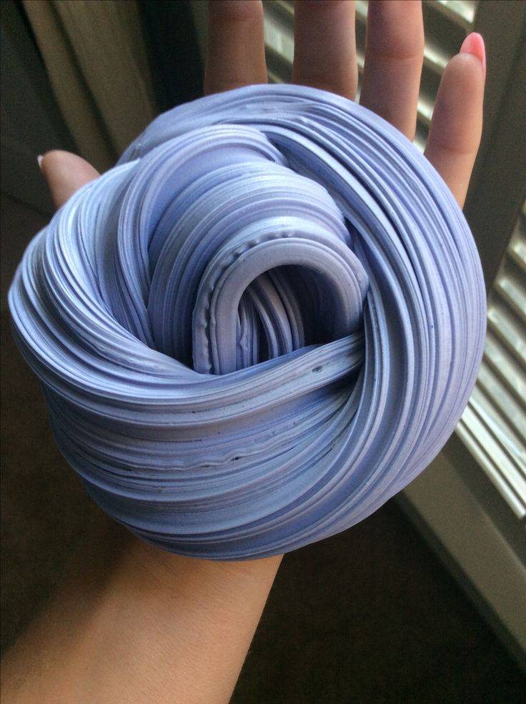 Navy blue fluffy slime