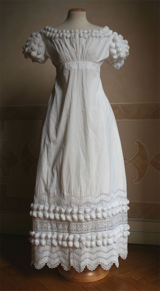 Cotton dress 1819 (click through for great close-up pics!)