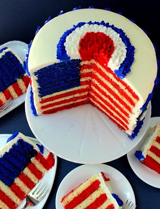 flag cake 4th of july