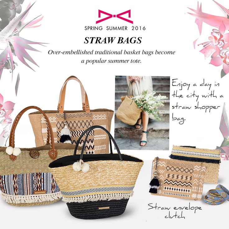 Straw bags for casual or chic ethnic look! #strawbags #ethnic #summerlook