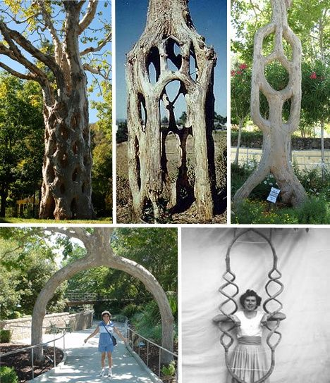 Axel Erlandson was an American 'arborsculptor' who planted trees in specified patterns and pruned, bent and grafted them into shapes not seen in nature. He opened a horticultural attraction in 1947...