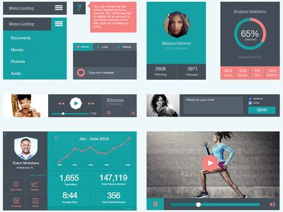 Plano UI Kit v.1 - Flat UI Kit found on Dribbble.