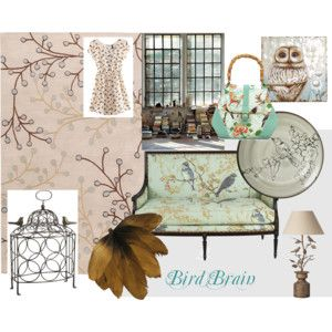 """Bird Brain"" by mandyjanem on Polyvore"