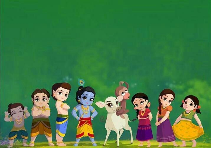 Little Krishna and his gang.