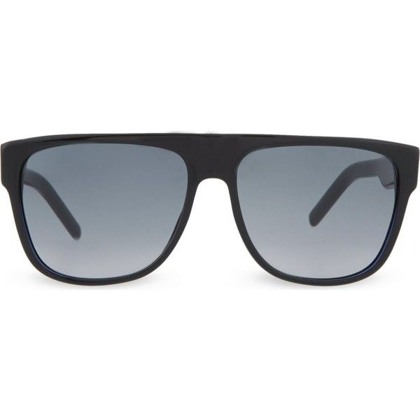 Dior Blue black rectangle sunglasses BLACKTIE188S ($255) ❤ liked on Polyvore featuring accessories, eyewear, sunglasses, blue black, two tone lens sunglasses, christian dior sunglasses, rectangular sunglasses, thick lens glasses and rectangle sunglasses