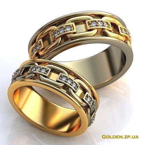 Кольца золотые обручальные мужские
