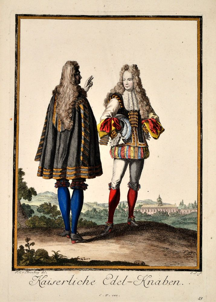 Kaiserliche Edel-Knaben - Weigel after Luyken Original Kupferstich 1703