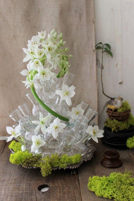 Stacked Vases Floral Arrangement