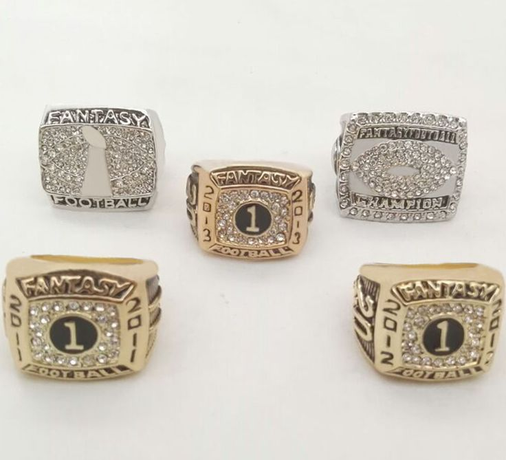 Facyory Direct Sale 5 pcs For 2011/2012/2013/2015 fantasy Football Super Bowl Championship Rings