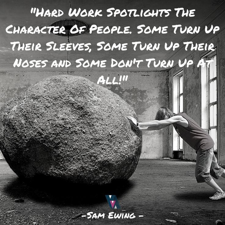 Hard Work Spotlights The Character - Quote Sam Ewing