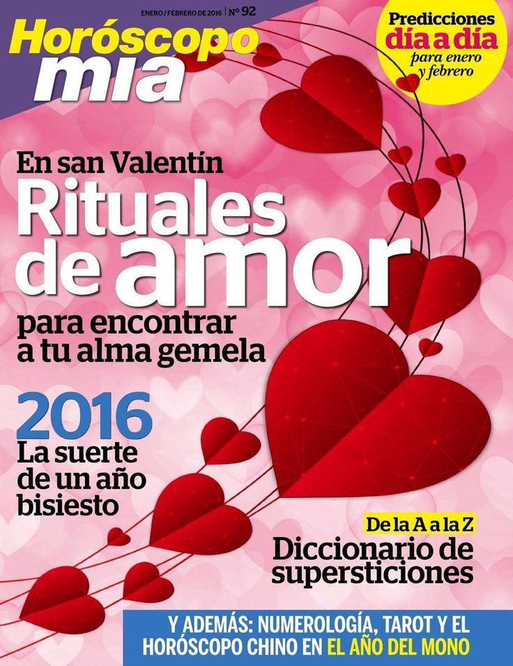 Revista #Horoscopo MÍA, #enero / #febrero 2015. Tarot, numerología, magia, rituales de amor en #SanValentín, #2016, la suerte de un año #bisiesto.