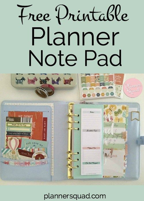 This free printable + tutorial is such fun! DIY planner note pad-great way to get organized & beautify your planners.