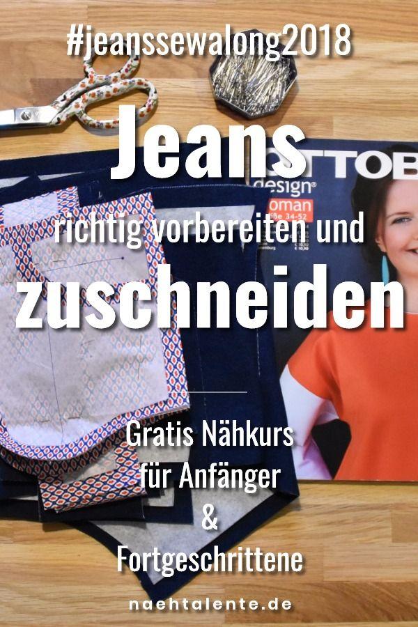 Jeans Nähen Teil 6 Zuschneiden Und Vorbereitungen Zum Nähen Einer