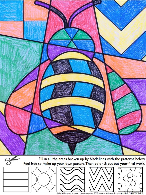Interactive coloring sheets for spring, easter and all major holidays and seasons from Art with Jenny K.