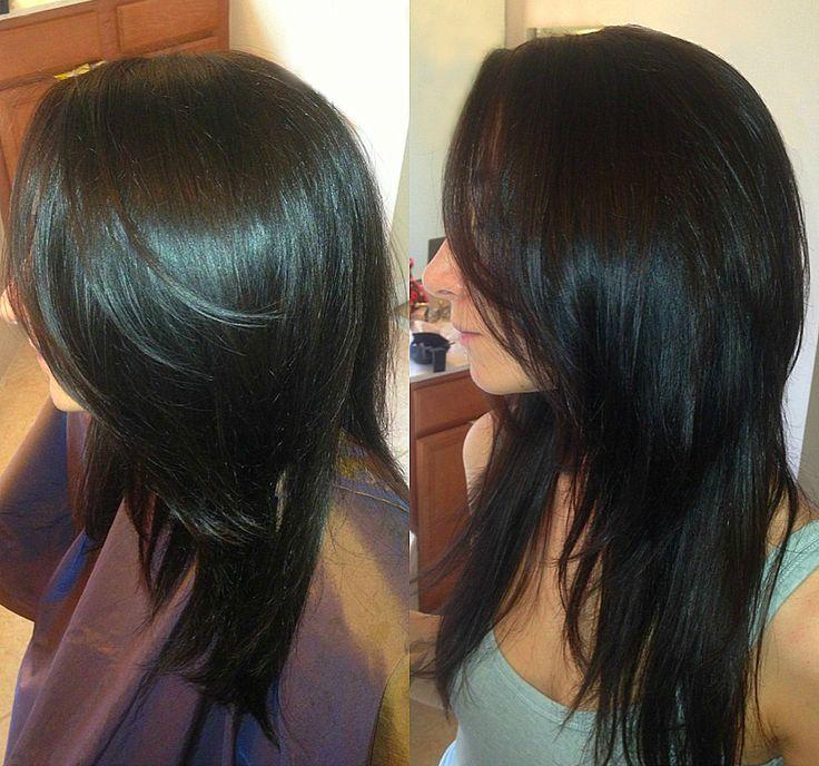 Dark Brown Long Layers Haircut Fave Hairstyles