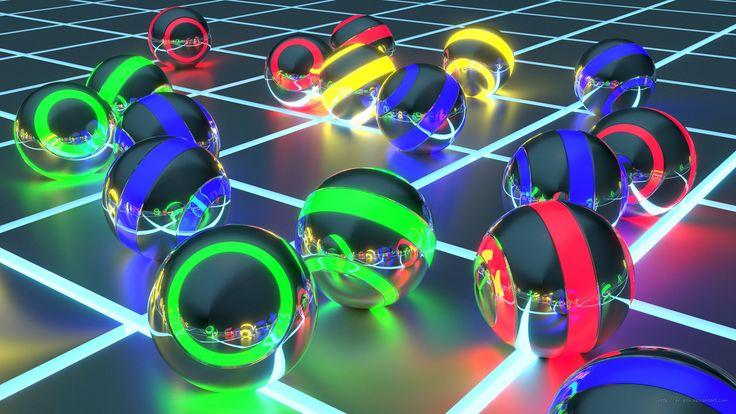 #CGI #3D  #Abstract #Ball #Blender #Blue #Digital #Green #Neon #Red #Sphere #Yellow #Geometry #Wallpaper #wallpapers #3dart #digitalart #blender3d