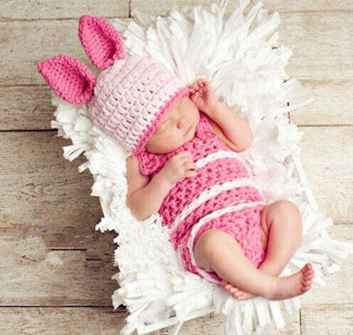 hase baby gestricken beanie baby Neugeborenen Fotografie kostüme requisiten Outfit gestrickt kaninchen kappe mit Shorts sy55(China (Mainland))
