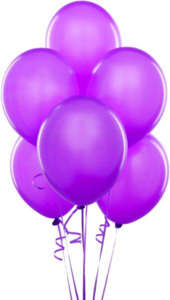 Purple Transparent Balloons Clipart | passionate 4 purple ...