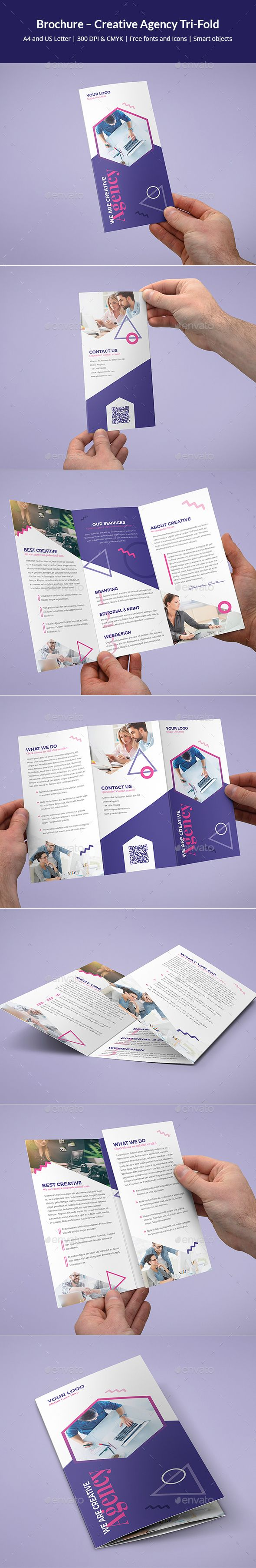 Creative Agency Tri-Fold Brochure Template PSD
