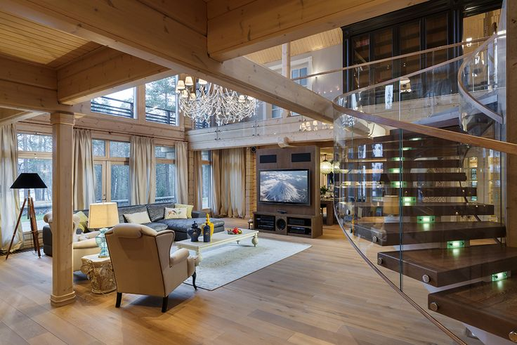 Просторный и светлый загородный дом, интерьер которого разработан дизайн-студией FullHouseDesign