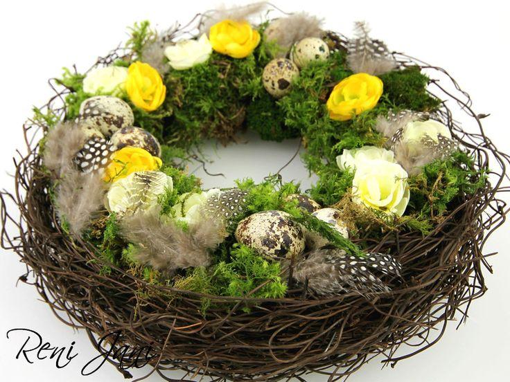TISCHKRANZ, OSTERKRANZ, FRÜHLINGSKRANZ von Reni Jani - Vintage Garden auf DaWanda.com