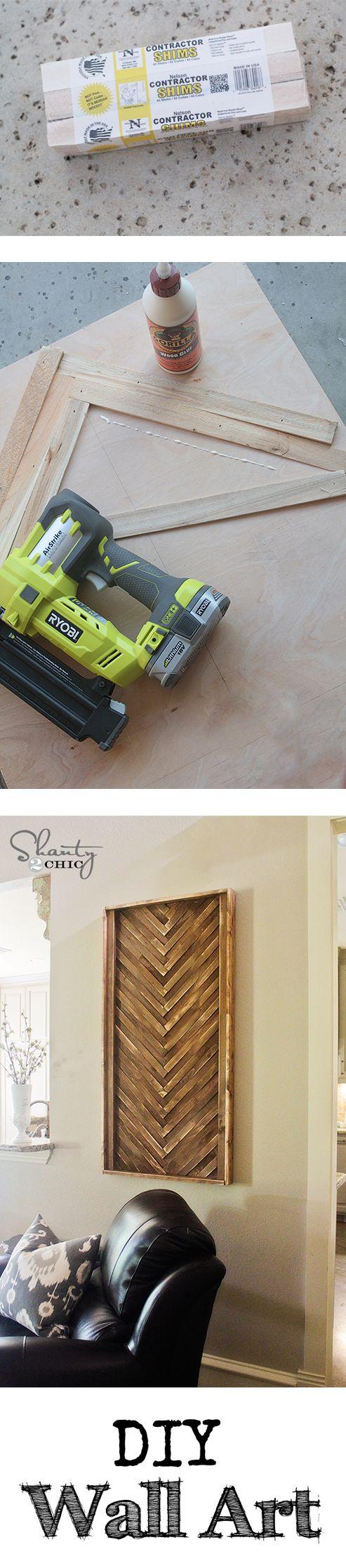 DIY Wall Art from cheap wood shims... LOVE this! #DIY @shanty2chic