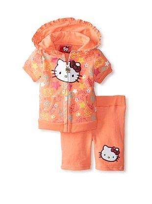 71% OFF Hello Kitty Baby Ruffle Tunic Set (Fusion Coral)