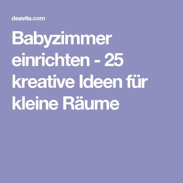 Marvelous Babyzimmer einrichten kreative Ideen f r kleine R ume