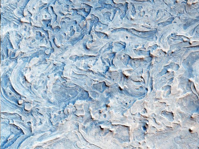Capas de roca al norte de Meridiani Planum