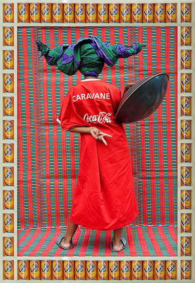 Credit: Hassan Hajjaj Caravane 2011 Metallic lambda print on dibond with wood and found objects frame #photography